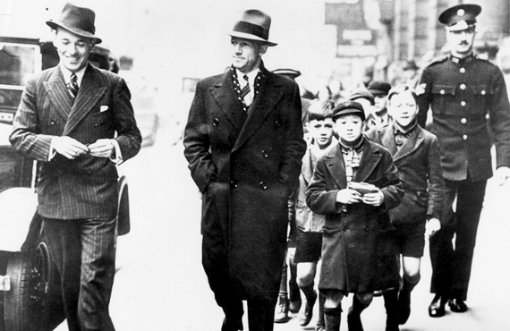 Sir Donald Bradman walking down the Strand