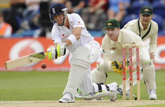 Kevin Pieterson Batting during 2009 Ashes Series