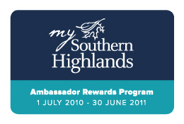 Southern Highlands Ambassador Rewards Card