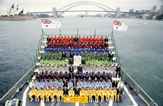 All 1992 World Cup Teams on Australian Frigate