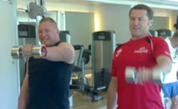 Simon and Gary weight training
