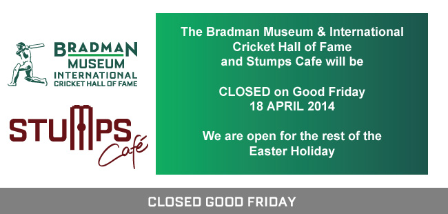 Museum and Cafe closed on Good Friday
