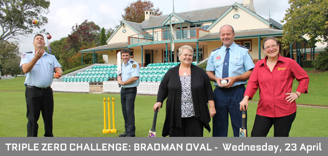Triple Zero inaugral challenge hosted by Bradman Foundation