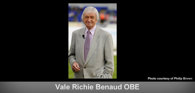 ICC statement on passing of Richie Benaud