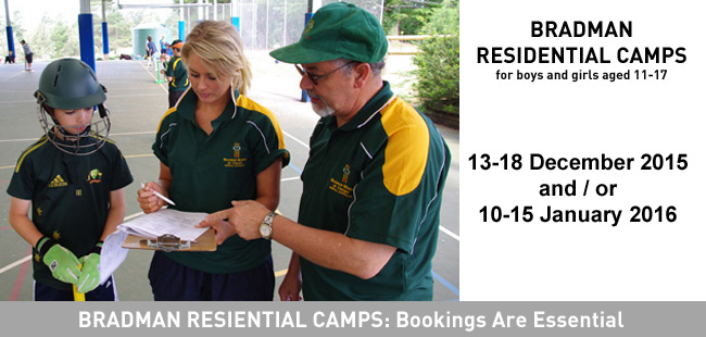 2015/16 Bradman Residential Camps